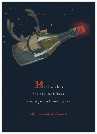 Heroic Champagne - Paperless Post - Holiday Cards