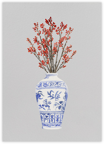 Ming Vase - Paperless Post - Holiday Cards