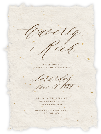 Cennini (Invitation) - Paperless Post - Online Wedding Invitations