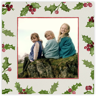 Holly Jolly Border - Square - Paperless Post -