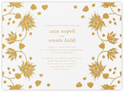 Vernal Imprint (Invitation) - Gold - Oscar de la Renta - Wedding invitations