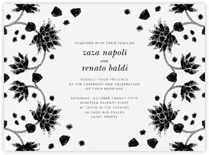 Vernal Imprint (Invitation) - Black - Oscar de la Renta -
