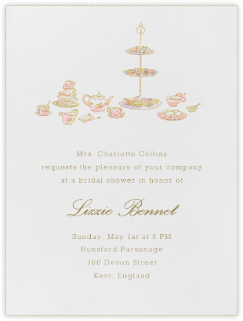 High Tea - Pink - Paperless Post - Bridal shower invitations