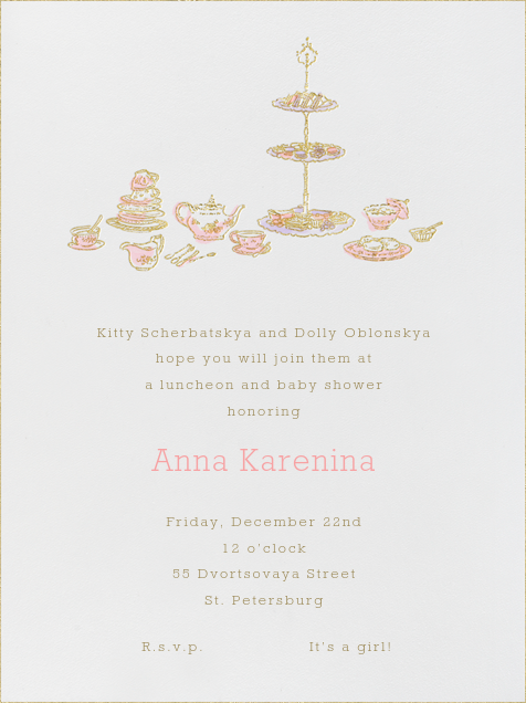 High Tea - Pink - Paperless Post - Celebration invitations