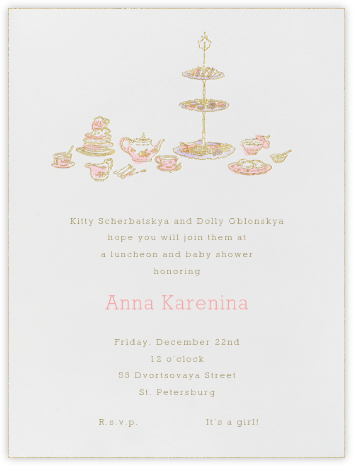 High Tea - Pink - Paperless Post - Baby Shower Invitations