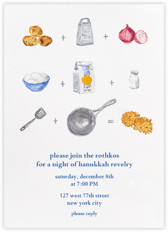 How to Make Latkes - Paperless Post - Hanukkah Invitations