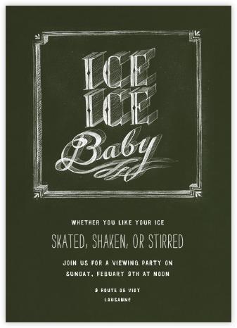 Ice Ice Baby - Green  - Paperless Post -