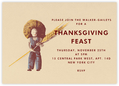 I Loves My Wheat - Paperless Post - Thanksgiving invitations