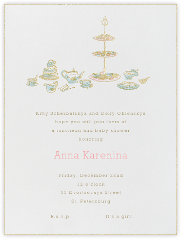 High Tea - Blue - Paperless Post - Baby Shower Invitations