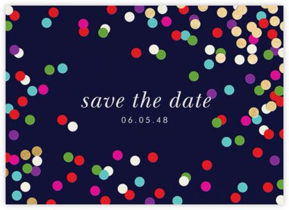 Confetti Toss - kate spade new york - Save the dates