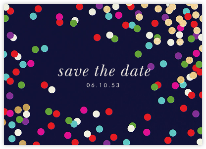 Confetti Toss - kate spade new york - Gold and metallic save the dates