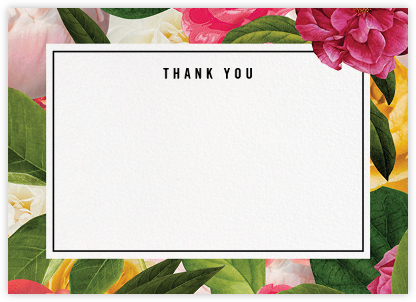 Lanai Floral (Stationery) - kate spade new york - Online thank you notes