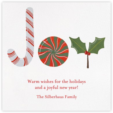 Joy to the World of Sweets - Paperless Post - Affordable Christmas Cards