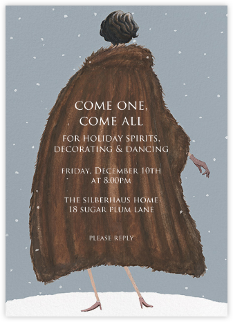 Lady It's Cold Outside - Paperless Post - Winter Party Invitations