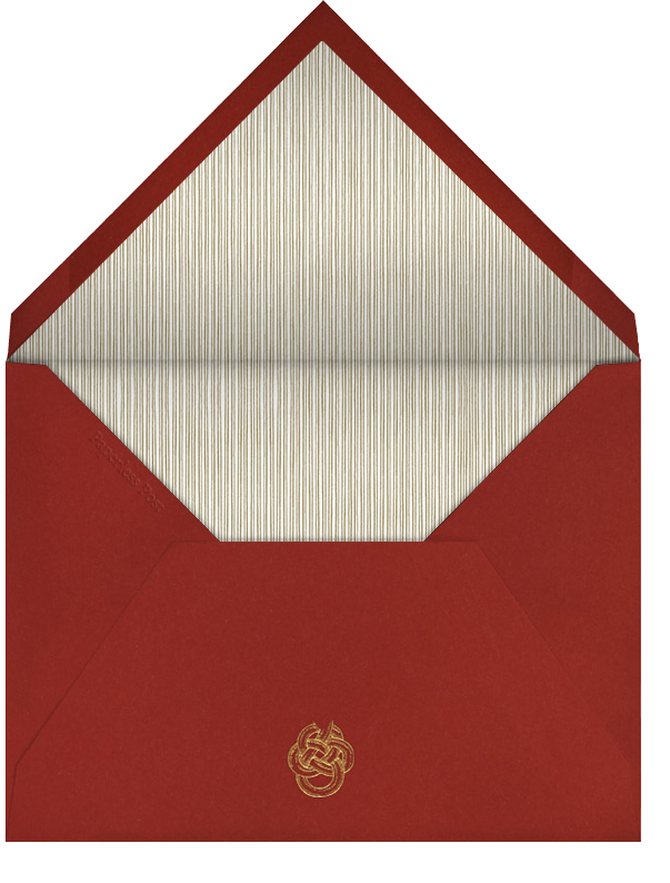 Oro (Red) - Paperless Post - New Year's Eve - envelope back