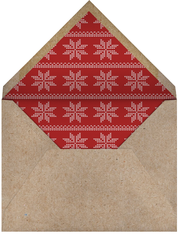 Oh Deer - Paperless Post - Winter entertaining - envelope back