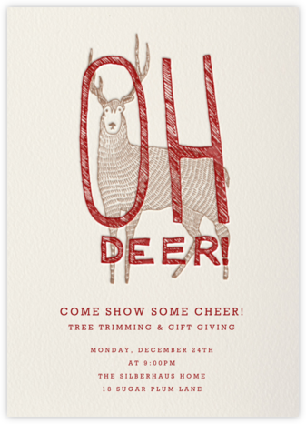 Oh Deer - Paperless Post - Christmas invitations