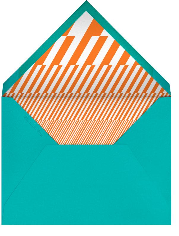 Robot - Orange - Paperless Post - Kids' birthday - envelope back