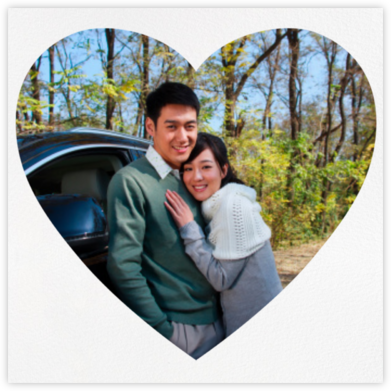 Heart Photo on Square - Two Sided - Paperless Post - Save the dates