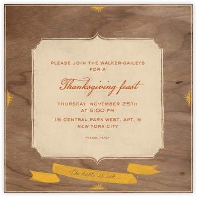 The Table is Set - Paperless Post - Thanksgiving invitations