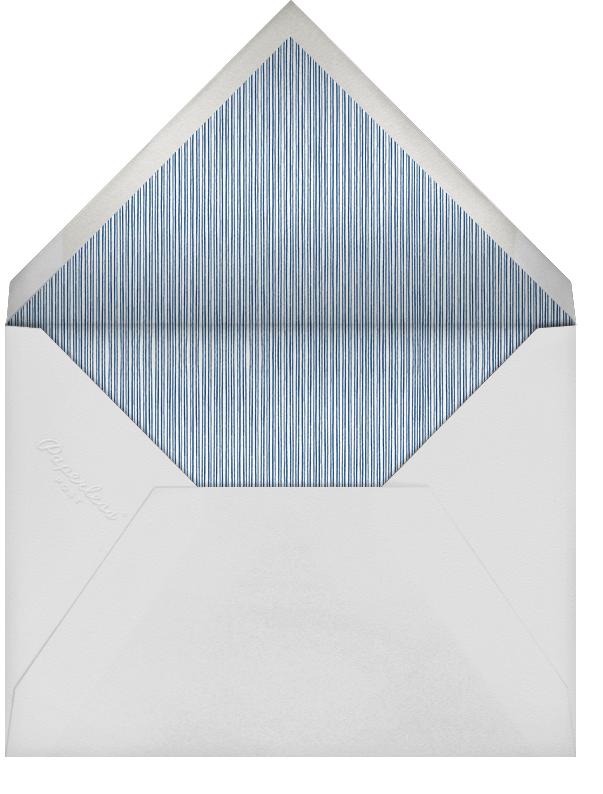 Winter Pine - Blue - Paperless Post - Christmas party - envelope back