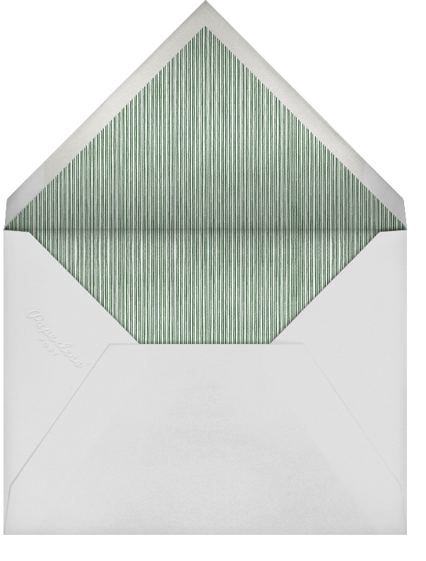 Winter Pine - Green - Paperless Post - Christmas party - envelope back