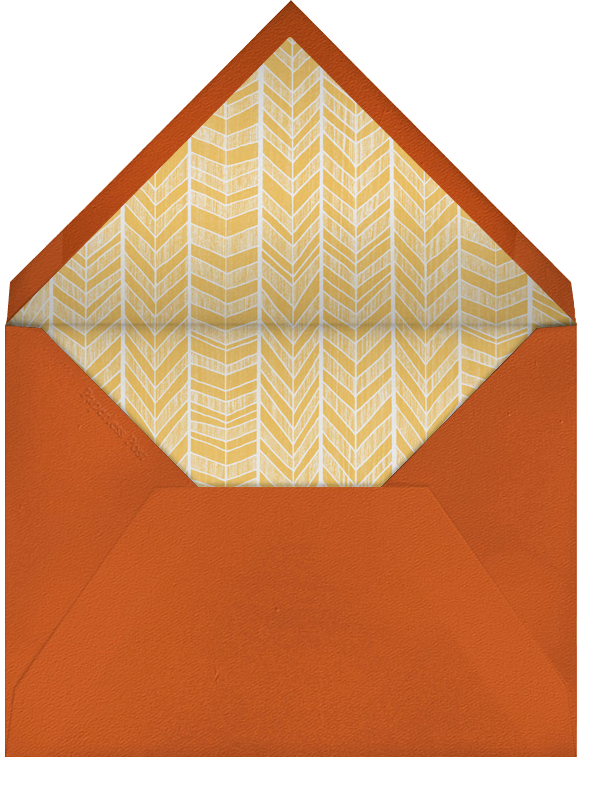 Oak - orange - Paperless Post - Thanksgiving - envelope back