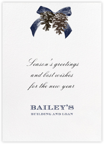 Winter Pine - Blue - Paperless Post - Company holiday cards