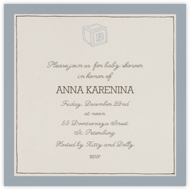 Drawn Seal Border - Pacific - Paperless Post - Celebration invitations
