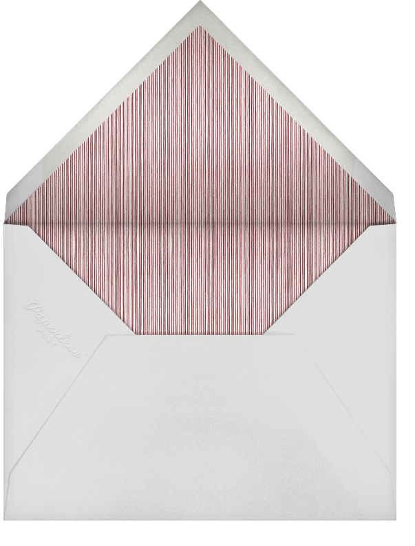 Winter Pine - Red - Paperless Post - Christmas party - envelope back