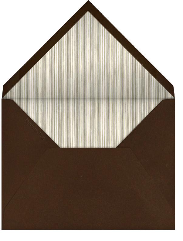 Drawn Seal Border - Pumpkin - Paperless Post - Save the date - envelope back