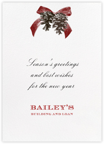 Winter Pine - Red - Paperless Post - Business holiday cards