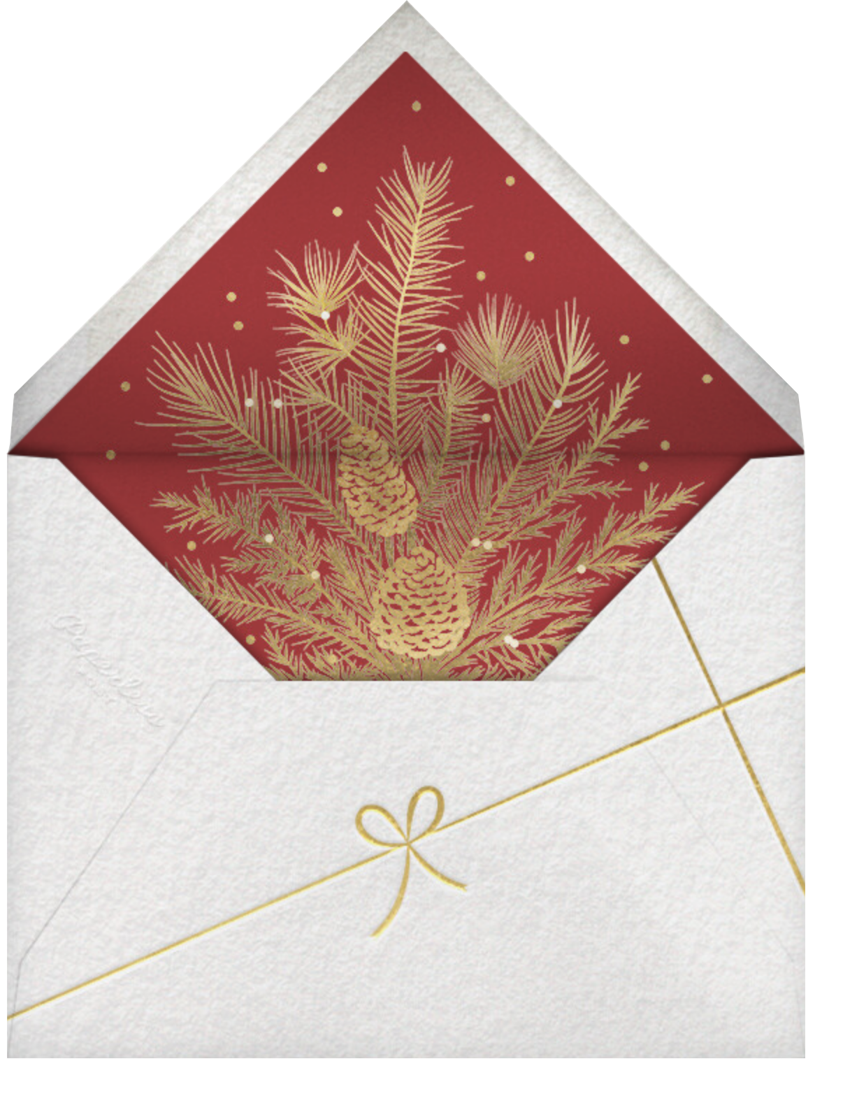Forsythia - Cardinal with White - Paperless Post - Holiday cards - envelope back