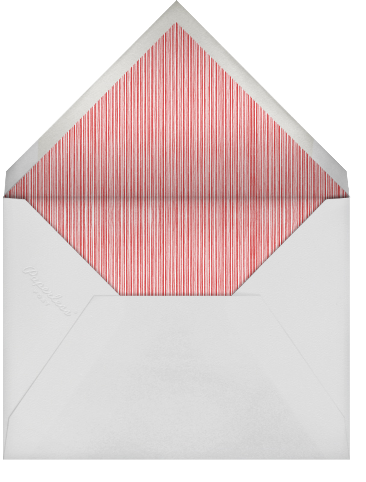 Forsythia - Cardinal with White - Paperless Post - Company holiday cards - envelope back