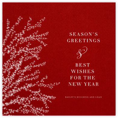 Forsythia - Cardinal with White - Paperless Post - Company holiday cards