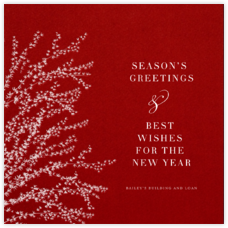 Forsythia - Cardinal with White - Paperless Post - Online greeting cards