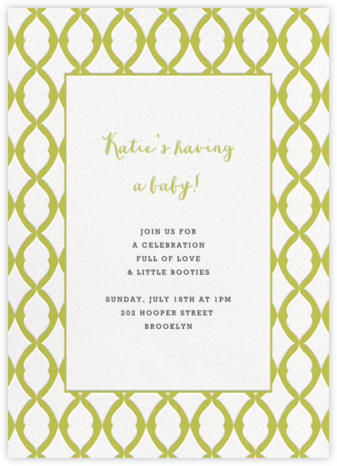 Lady Bexborough - Chartreuse - Paperless Post - Baby Shower Invitations
