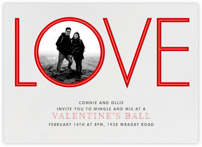 Tunnel of Love - Paperless Post - Valentine's Day invitations