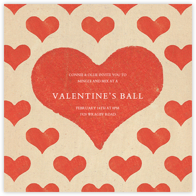 ValentineS Day Invitations  Online At Paperless Post