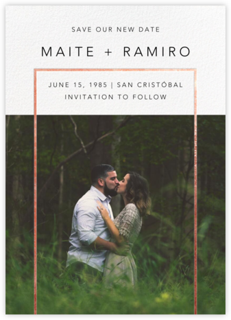 Truitt - Rose Gold - Paperless Post - Photo save the dates