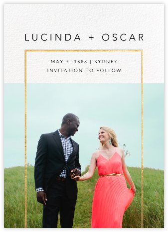 Truitt - Gold - Paperless Post - Modern save the dates