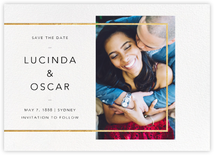 LeWitt - Gold - Paperless Post - Photo save the dates