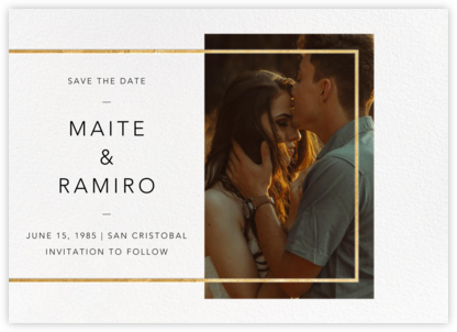 LeWitt - Gold - Paperless Post - Save the dates