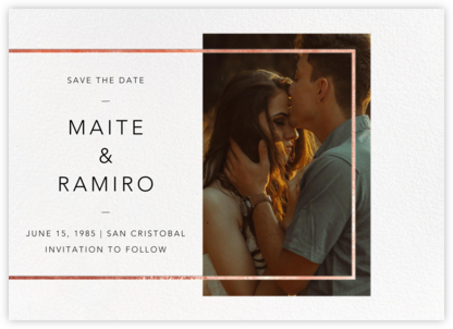 LeWitt - Rose Gold - Paperless Post - Photo save the dates