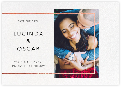 LeWitt - Rose Gold - Paperless Post - Gold and metallic save the dates