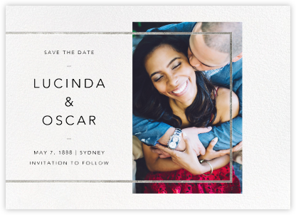 LeWitt - Silver - Paperless Post - Wedding Save the Dates
