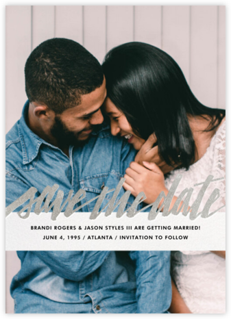 Clarissa (Full Photo) - Silver - Paperless Post - Save the dates