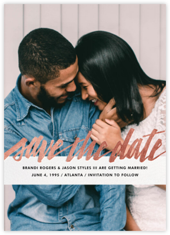 Clarissa (Full Photo) - Rose Gold - Paperless Post - Save the dates