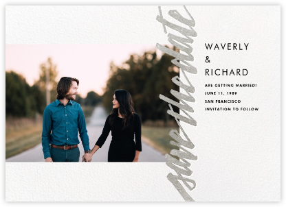 Clarissa (Landscape Photo) - Silver - Paperless Post - Save the dates