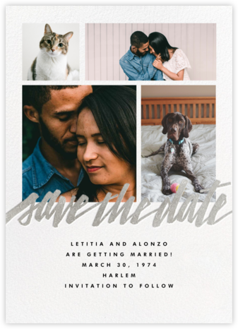 Clarissa (Multi-Photo) - Silver - Paperless Post - Modern save the dates